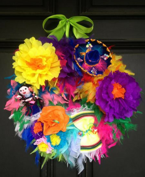 Viva Fiesta! Feather Wreath
