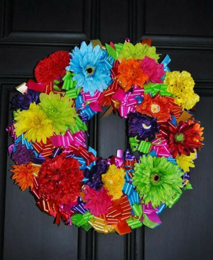 "Simply Lovely Floral Wreath - 24"" - Bonnie Harms Designs"