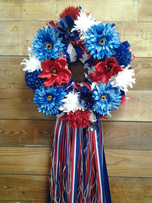 The Red, White & Blue Wreath - Bonnie Harms Designs