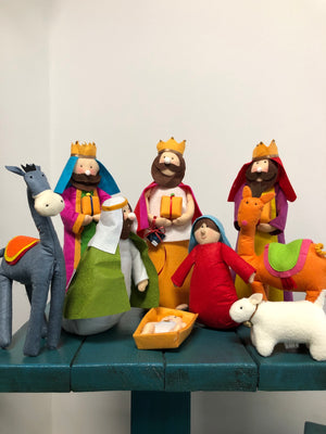 Fabric Nativity Set - Bonnie Harms Designs