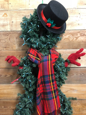 Mr. Snowman Wreath - Bonnie Harms Designs