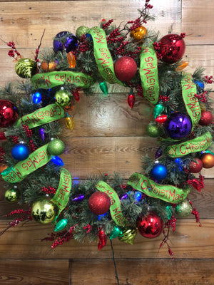 Merry Christmas Wreath - Bonnie Harms Designs
