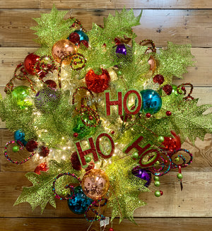 Ho Ho Ho Wreath - Bonnie Harms Designs