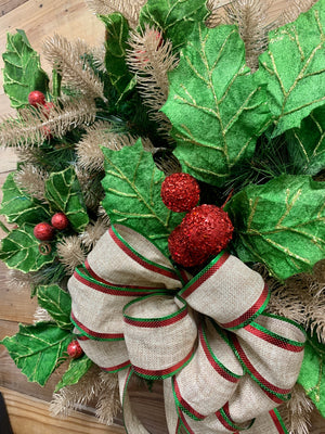 Gorgeous & Holly Wreath - Bonnie Harms Designs