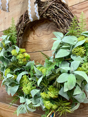 Spring Fever Succulent Wreath - Bonnie Harms Designs