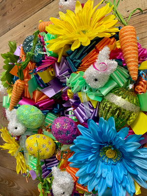 Easter Fiesta Wreath - Bonnie Harms Designs