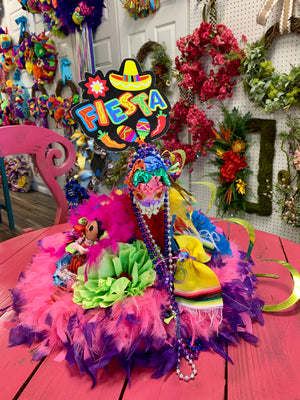Fiesta Party Hat Sombrero - Table Topper Centerpiece - Bonnie Harms Designs