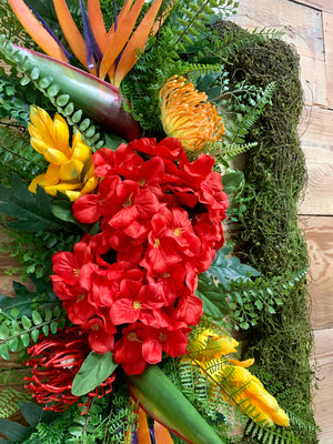 Tropical Rectangular Wreath - Bonnie Harms Designs