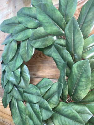 Double Magnolia Wreath - Faux Magnolia -  Bonnie Harms Designs