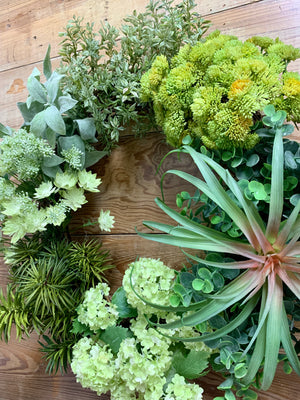 Succulent Greenery Wreath - Bonnie Harms Designs