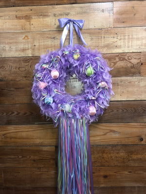 "Easter ""CHIC"" Lavender Wreath - Bonnie Harms Designs"