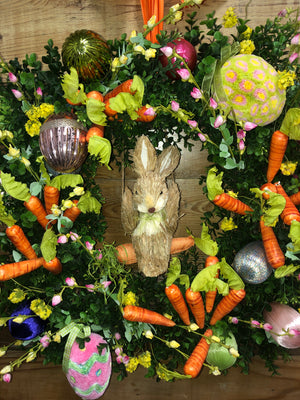 Carrot Patch Easter Wreath - Bonnie Harms Designs