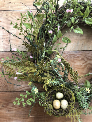 Birds Nest Spring Wreath - Bonnie Harms Designs