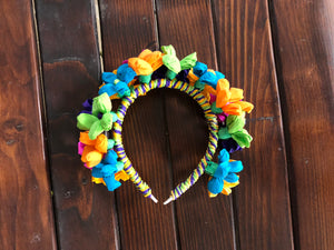 Fiesta Paper Flowers Headband - Bonnie Harms Designs