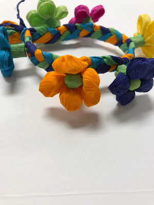 Fiesta Paper Flower Bracelets - Bonnie Harms Designs