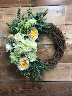 Serenity Spring Wreath - Bonnie Harms Designs