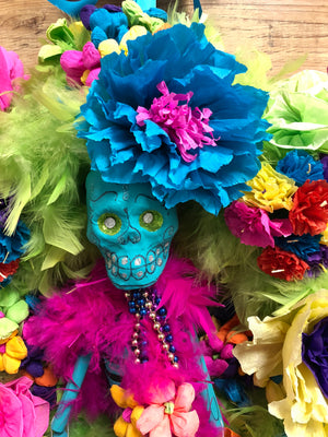 Day of the Dead Wreath - Mr. Bones - Bonnie Harms Designs