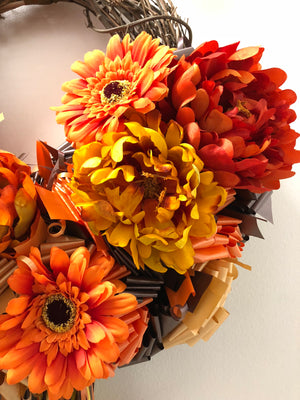 Sweet Caitlin Fall Wreath - Bonnie Harms Designs