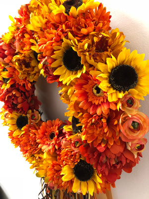 La Bonita Fall Wreath - Bonnie Harms Designs