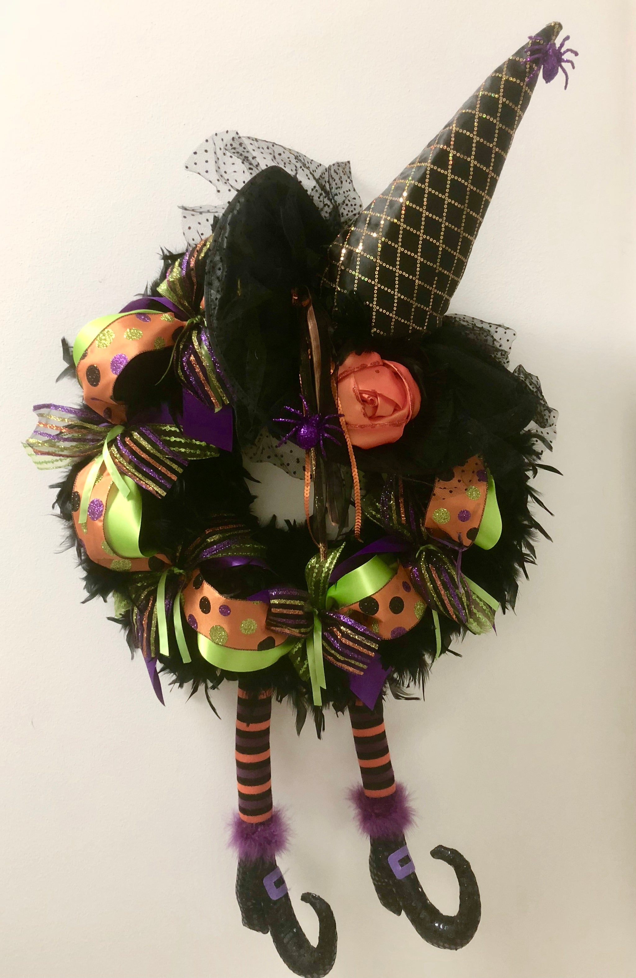 Wicked Witch Of The East Halloween Wreath Bonnie Harms Designs