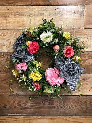May Flowers Spring Wreath - Bonnie Harms Designs