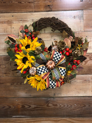 Fall in Love Wreath - Bonnie Harms Designs