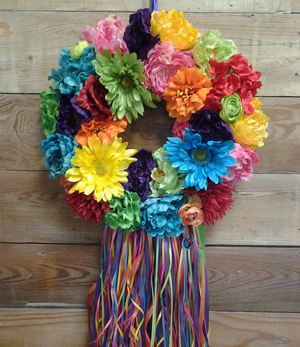La Bonita with Ribbons Wreath - Bonnie Harms Designs