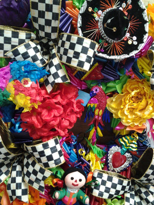 South Texas Fiesta Wreath - Bonnie Harms Designs