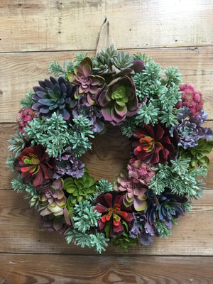 Succulent Wreath - Bonnie Harms Designs