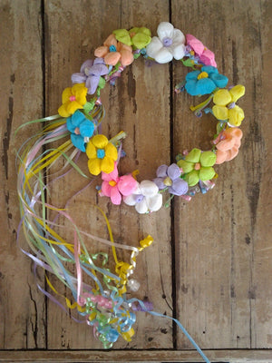 Fiesta Paper Flower Crown-Bright Pastel