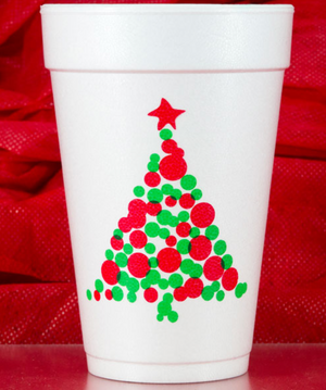 16 oz. Christmas Foam Cups - Bonnie Harms Designs