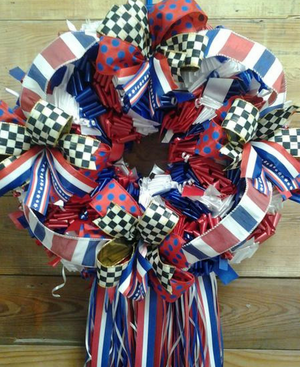 American Pride Wreath - Bonnie Harms Designs