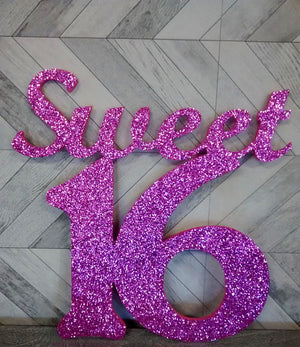Sweet Sixteen Wood Sign - Bonnie Harms Designs
