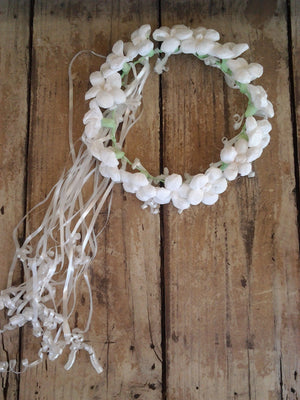 Fiesta Paper Flower Crown-White