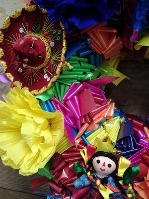 Fiesta San Antonio Wreath - Bonnie Harms Designs