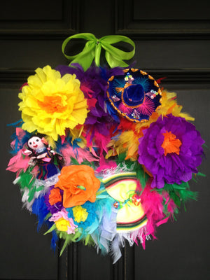 Viva Fiesta! Feather Wreath - Bonnie Harms Designs