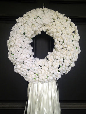 "Paper Flower ""Wedding Terecita"" Wreath - Bonnie Harms Designs"