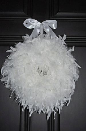Original Feather Wedding Wreath - Bonnie Harms Designs