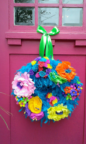 Casa Bonita Wreath - Turquoise - Bonnie Harms Designs