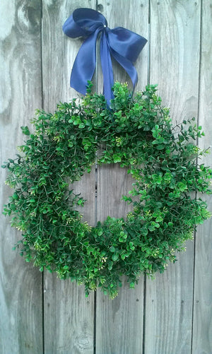 "Round Boxwood Wreath-18"" - Bonnie Harms Designs"