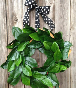 "Magnolia Wreath - 18"" - Bonnie Harms Designs"