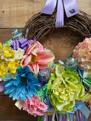Sweet Caitlin Easter Wreath