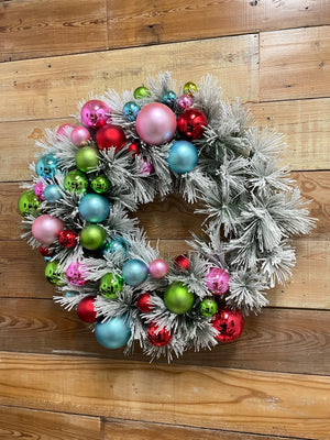 Flocked Christmas Wreath