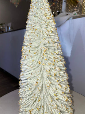 Gold Glitter Pastel Bottle Brush Christmas Trees