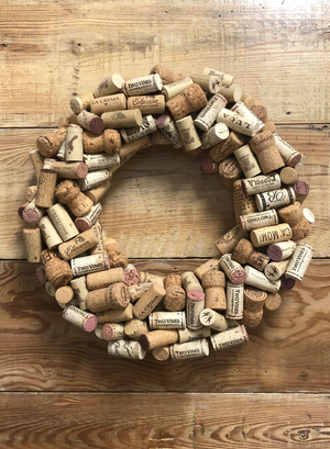 Cork Wreath - Bonnie Harms Designs