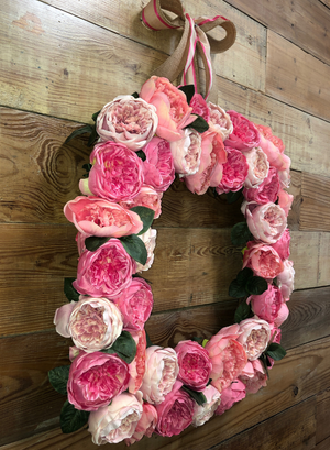 Pretty In Pink Floral Wreath - Bonnie Harms Designs