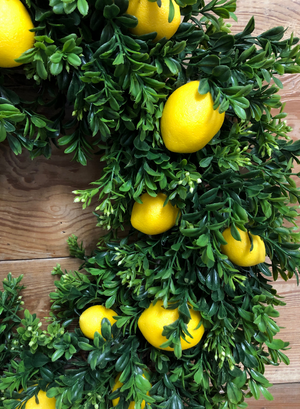 Lemon Wreath - Bonnie Harms Designs