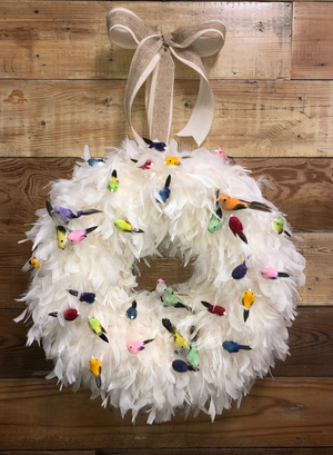 White Birds of a Feather Wreath - Bonnie Harms Designs