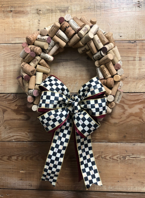 Wine Cork Wreath - Bonnie Harms Designs