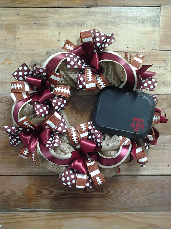 Texas A&M Burlap Wreath